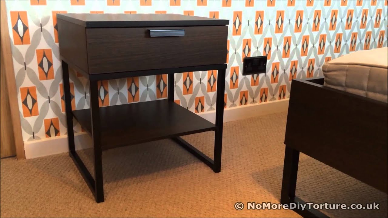 Ikea Over Bed Table On Wheels ~ IKEA TRYSIL Bedside Table  YouTube