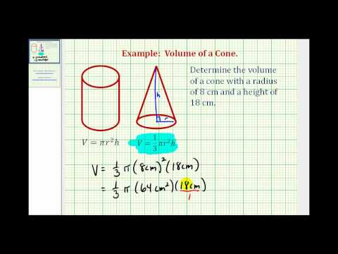 Determine the Volume of a Cone
