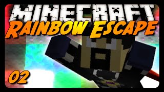 Minecraft Parkour - RAINBOW ESCAPE - Pt. 2 w/ AntVenom!