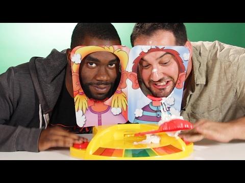 People Play Pie Face Showdown