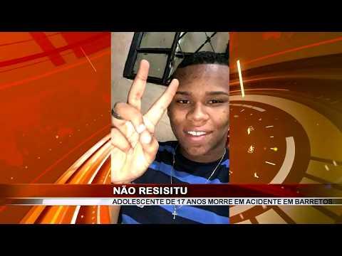 12/11/2018 - Tragédia!!! Adolescente de 17 anos perde a vida em acidente de trânsito em Barretos