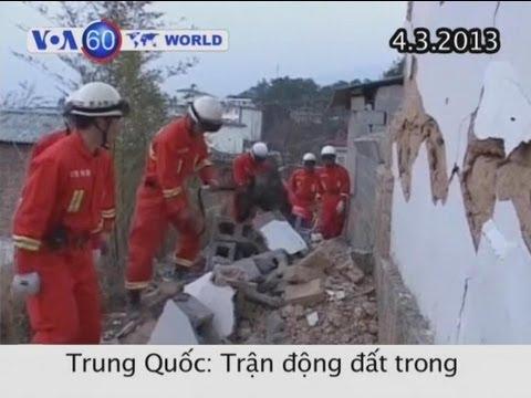 Động đất tại Trung Quốc phá hủy 700 căn nhà (VOA60)