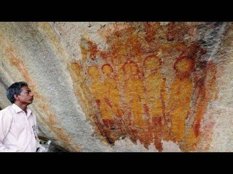 UFO Cave Paintings Found in Northeast India