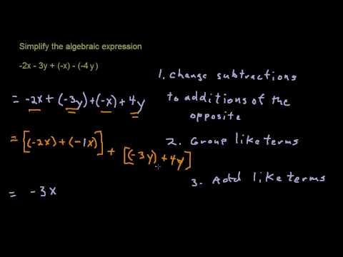 Subtraction (Introductory Algebra 8)