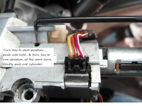 tahoe ignition cylinder removal  passlock youtube