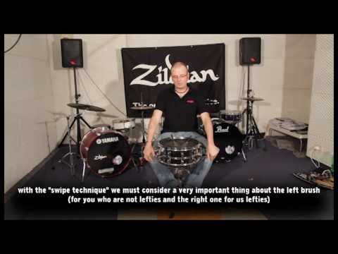 Stefano Bagnoli - drum lesson How to play with brushes Part 1