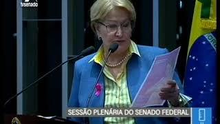 Senadora Ana Amélia (PP/RS) destaca o Outubro Rosa em tribuna