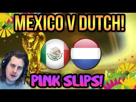NETHERLANDS V MEXICO WORLD CUP PINK SLIPS! FIFA 14 ULTIMATE TEAM