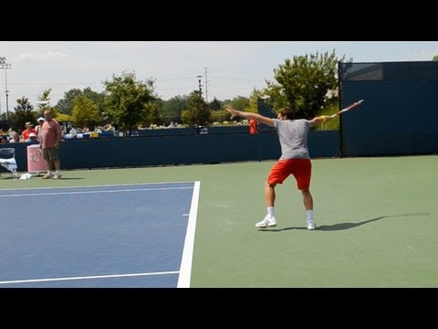 Ernests Gulbis Forehand, Backhand and Serve - 2013 Cincinnati Open