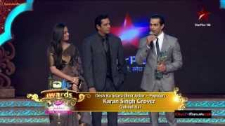 Karan Singh Grover Wins Best Actor Award [ITA Awards 3rd