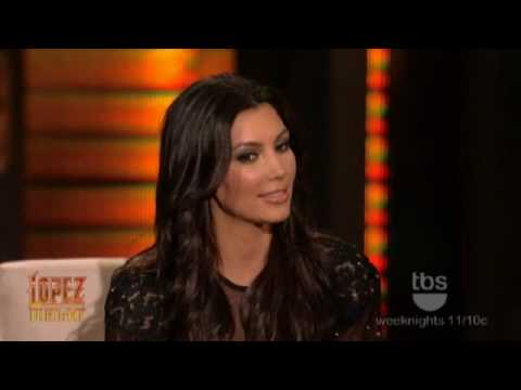 Lopez Tonight - Kim and Khloe Kardashian Interview - Talk About Their BLACK MEN