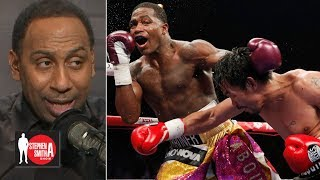 Stephen A. calls out Adrien Broner for saying he beat Manny Pacquiao |  Stephen A. Smith Show