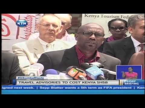 Kenya's tourism is staring at losses estimated at more than five billion shillings