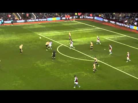 GOAL: Andreas Weimann - Aston Villa vs Bradford City - Capital One Cup Semi Final (2nd Leg)