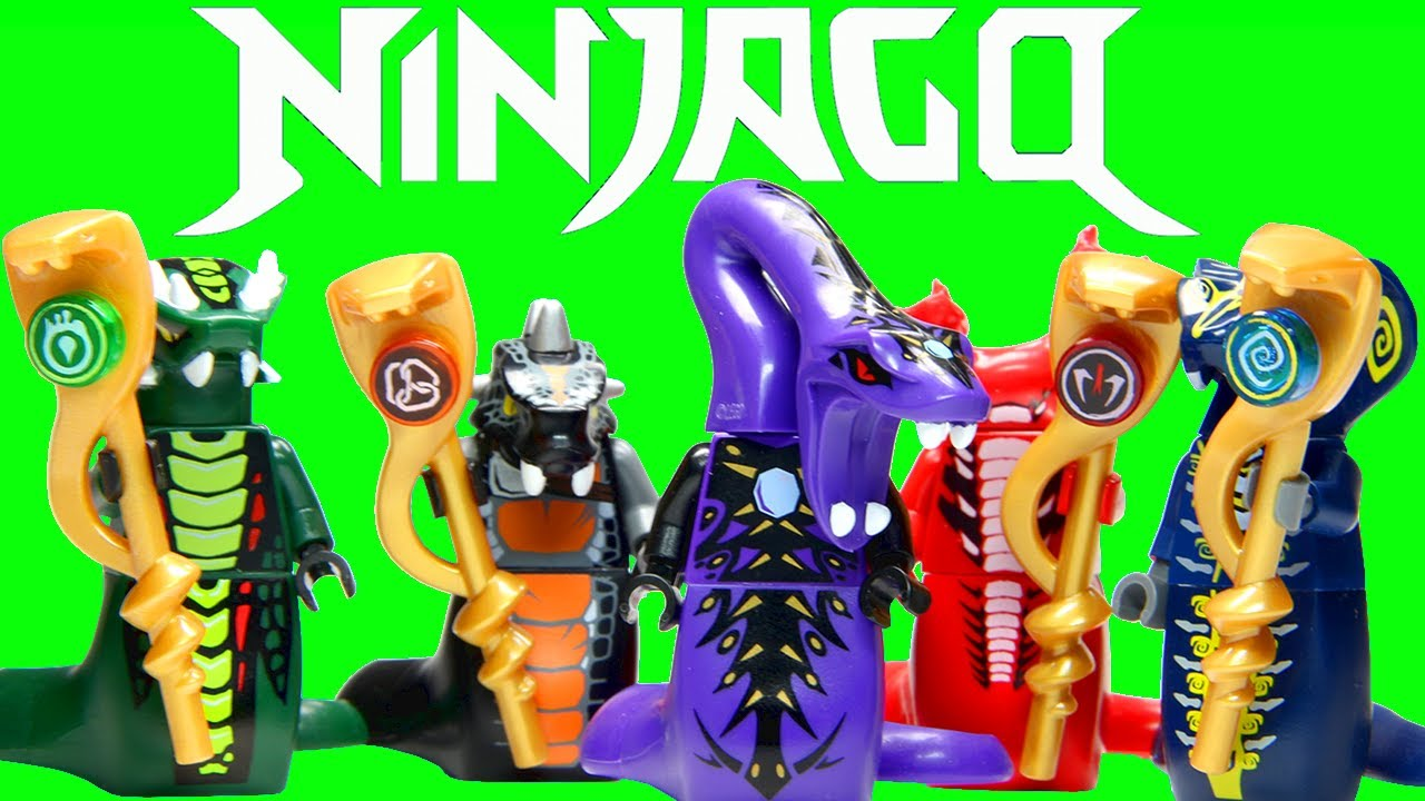 Lego Ninjago Snake Generals Serpentine Collection Youtube