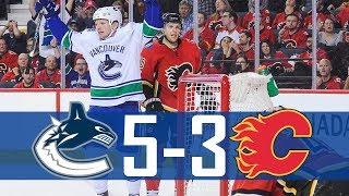 Canucks vs Flames | Highlights | Nov. 7, 2017 [HD]