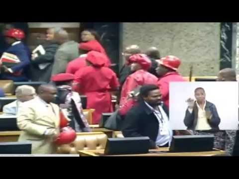WATCH: Julius Malema being kicked out of Parliament