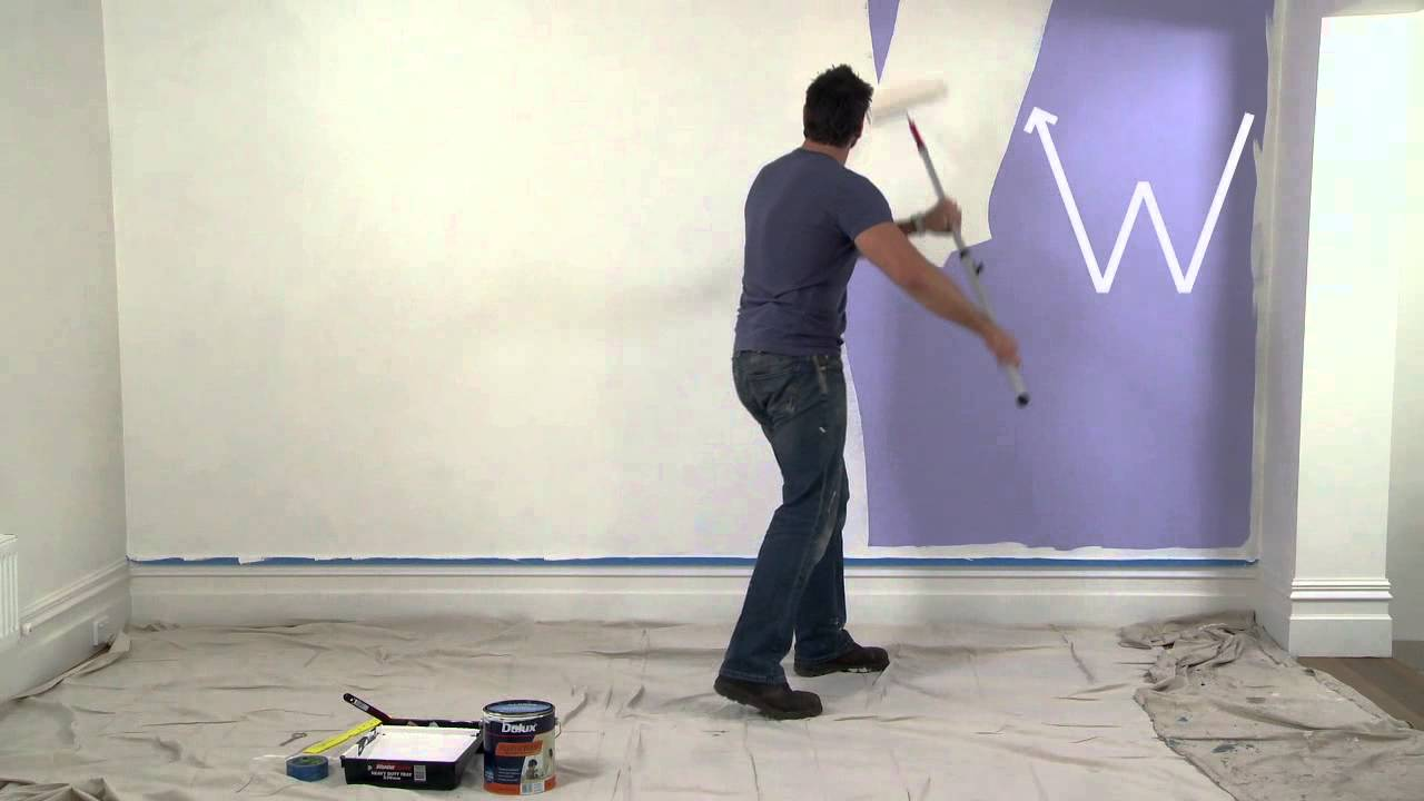 how to paint walls with dulux paint youtube. Black Bedroom Furniture Sets. Home Design Ideas