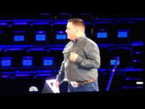 The Voice ( Blake Shelton and Jake Worthington ) Funny!
