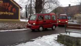 Příjezd do Svijan - zimní sraz Subaru Libero 2013