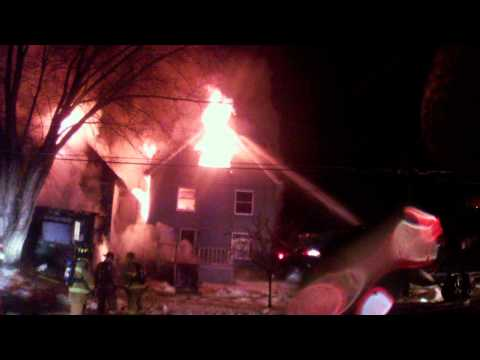 Helmet cam: 2 homes burn in Pa.