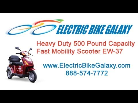 Heavy Duty 500 Pound Capacity Electric Mobility Scooter EW 37