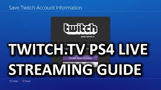 How To Stream From PS4 To Twitch.tv & My First Gameplay