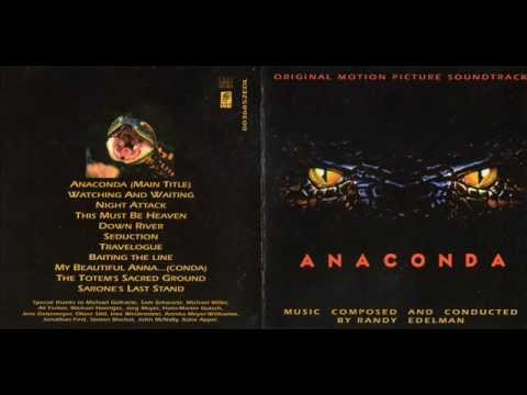 """Anaconda Soundtrack - Randy Edelman, The complete soundtrack to """"Anaconda"""", composed by Randy Edelman. """"Anaconda"""" is a 1997 adventure-horror film, directed by Luis Llosa. The film was followed by three sequels."""