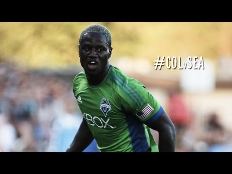 GOAL:  Johnson slides in Seattle's first goal | Colorado Rapids vs. Seattle Sounders