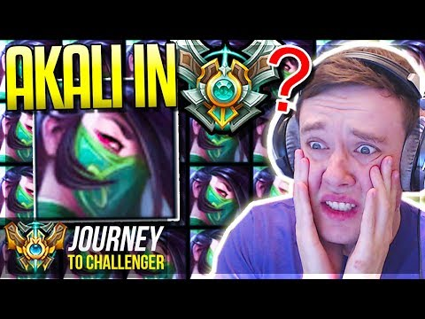 SO I PICKED NEW AKALI REWORK IN MASTERS ELO........ - Journey To Challenger - League of Legends