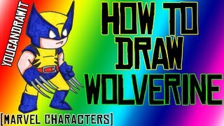 How To Draw Wolverine Marvel Characters YouCanDrawIt ツ