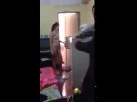 clip sex : Ngoại tình trong khách sạn, chồng bị vợ tát bôm bốp vào mặt