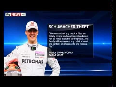 Michael Schumacher's medical data being offered for sale