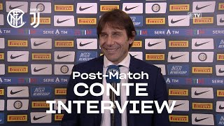 "INTER 2-0 JUVENTUS | ANTONIO CONTE EXCLUSIVE INTERVIEW: ""We were really good tonight"" [SUB ENG]"