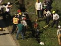 Raw: Trapped Horse in Narrow Deep Ditch Rescued