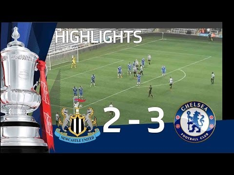 NEWCASTLE UNITED vs CHELSEA 2-3: Official Goals & Highlights FA Youth Cup Sixth Round