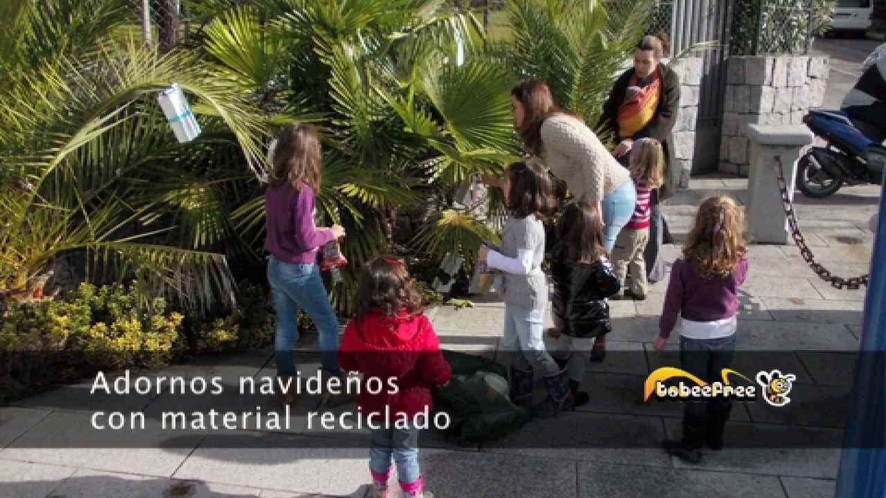 Adornos navide os con material reciclado youtube for Adornos navidenos material reciclado