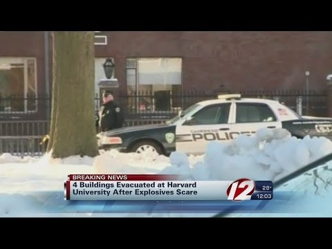 Harvard buildings evacuated after explosives scare