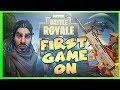 FIRST GAME CRAZY ENDING Fortnite Battle Royale