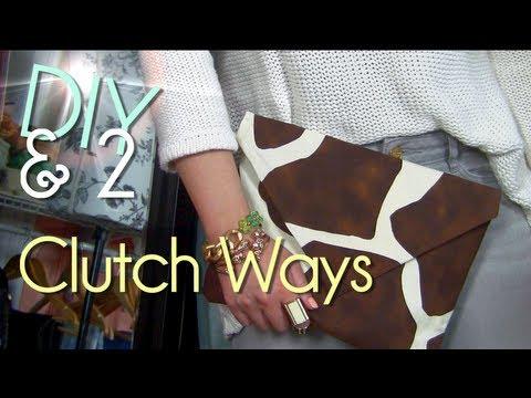 Make No Sew Clutch Purse Case Envelope Youtube