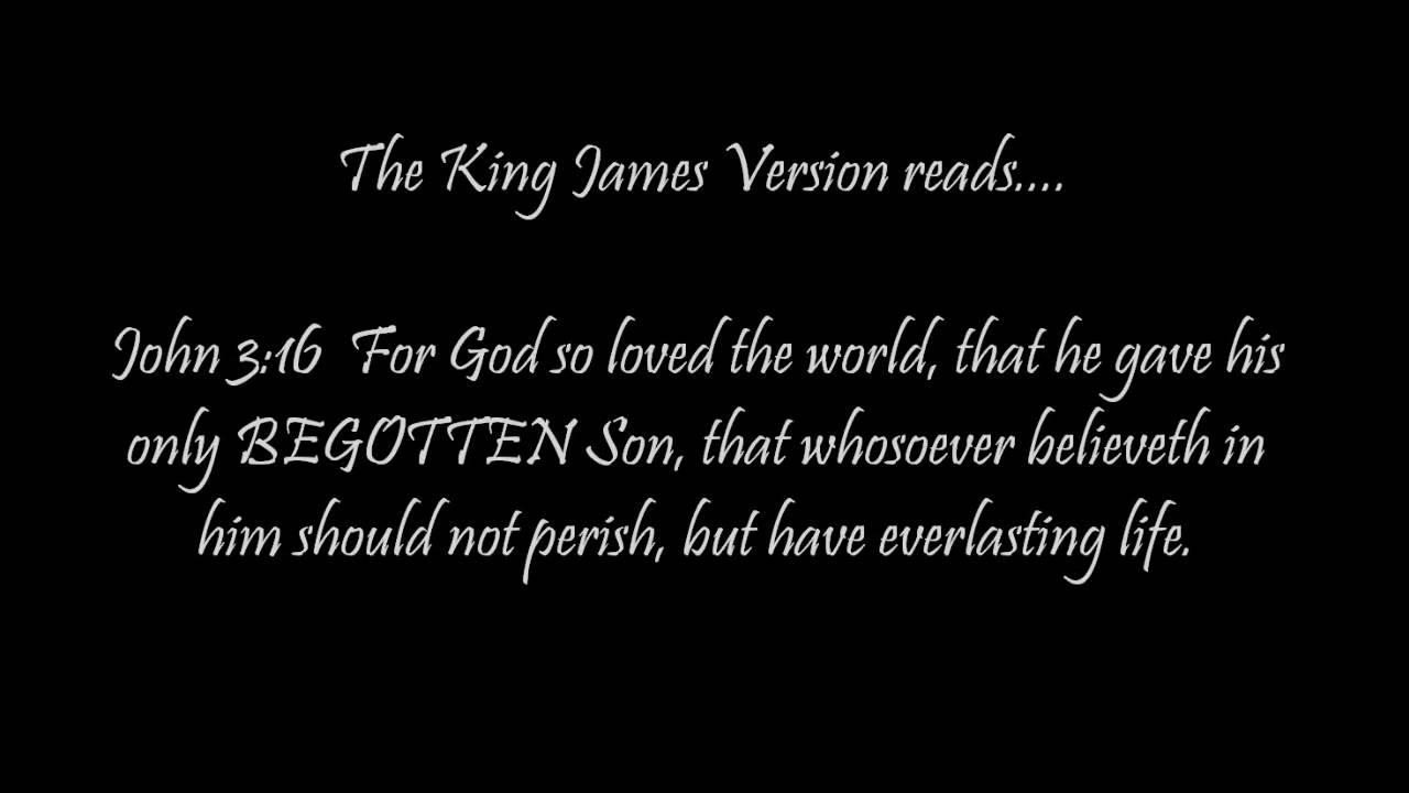 King james version only part 5 john 3 16 youtube