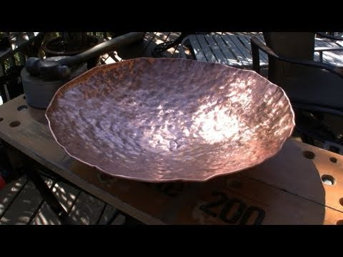 How To Make A Copper Bowl Hammering With Rob Youtube
