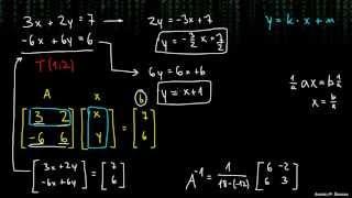 Matrike za reševanje sistemov enačb