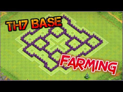 Clans base builds th7 dark elixir farming base no barbarian king
