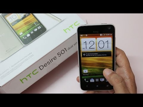 HTC Desire 501 Dual Sim Android Phone Unboxing & Overview
