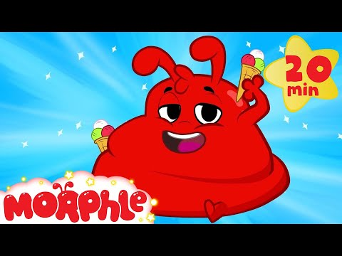 CRAZY Morphle became FAT from eating too much icecream Weird + funny superhero animation for kids