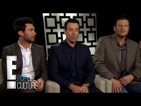 Adam Levine, Blake Shelton and Carson Daly on