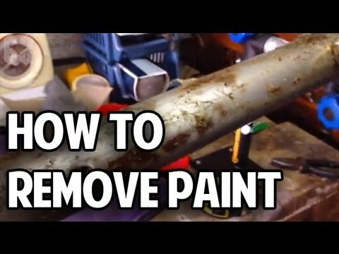 how to remove paint from your bicycle frame youtube. Black Bedroom Furniture Sets. Home Design Ideas