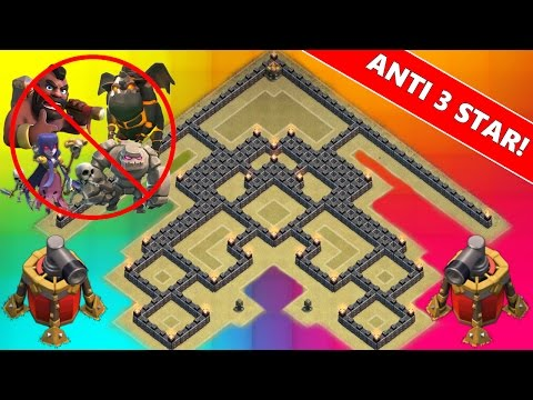 Clash Of Clans   NEW TH9 ANTI 3 STAR WAR BASE!   Town Hall 9 2 Air Sweeper 2015 !