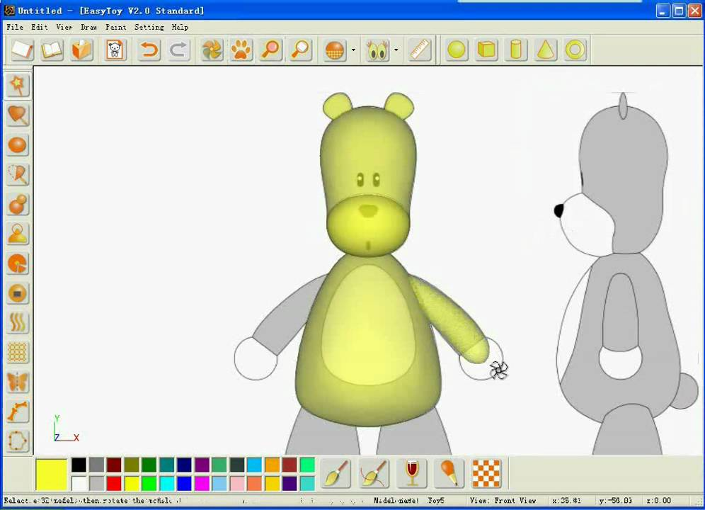 easy 3d modelling using sketched based easytoy software